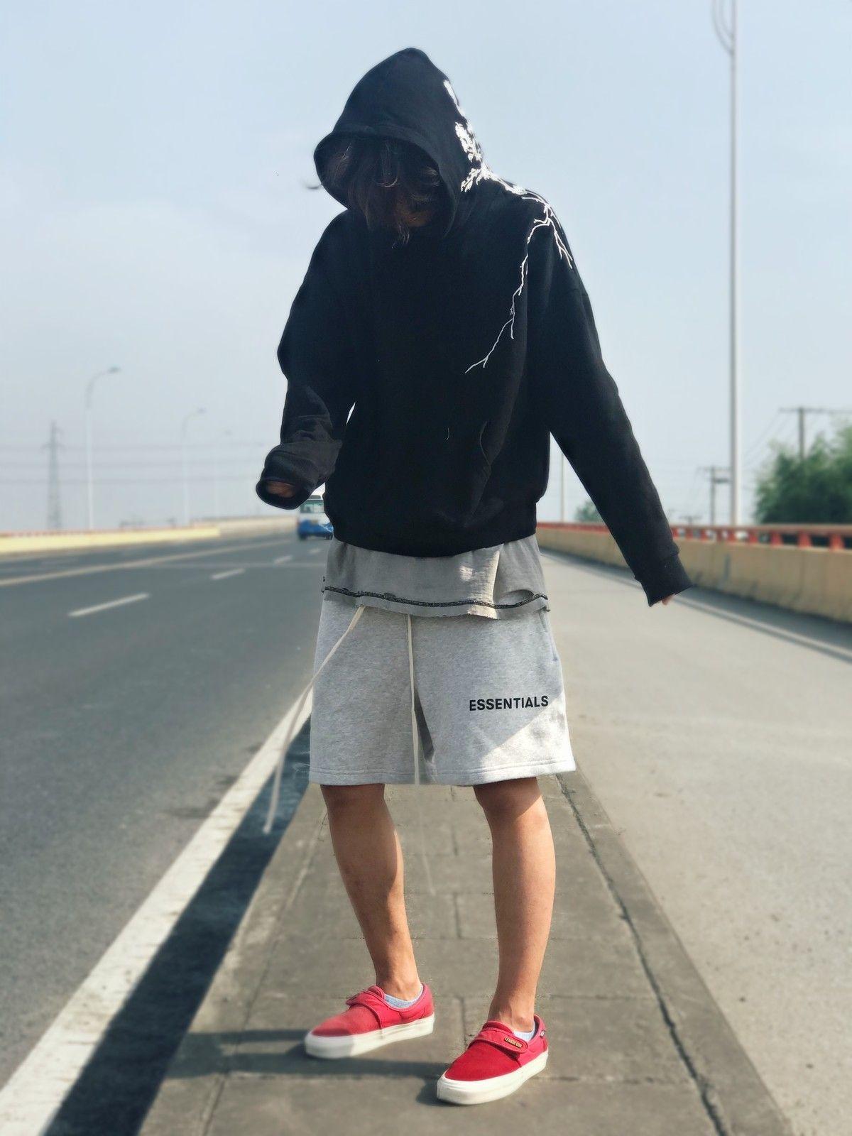 Пятый туман проверял модную улицу Свободные Мужские JNPGP Брюки Высокие Шорты Бога и Сущности Повседневные Шорты Страх LTwih
