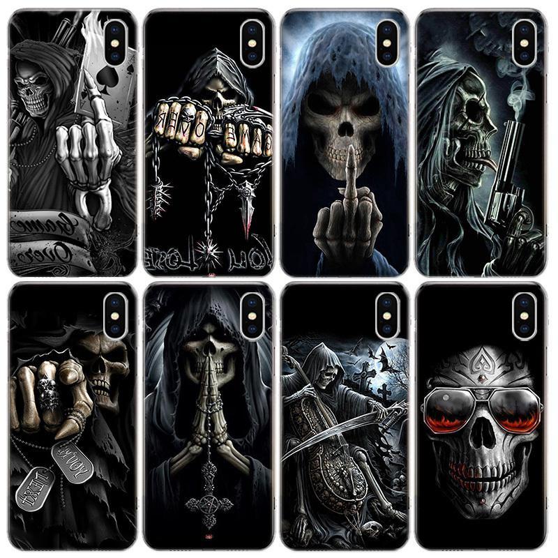 Cassa del telefono di scheletro Grim Reaper Skull per l'iphone 2020 11Pro XS MAX 8 7 6 6S Plus X 5 5S SE XR copertura Shell Coque