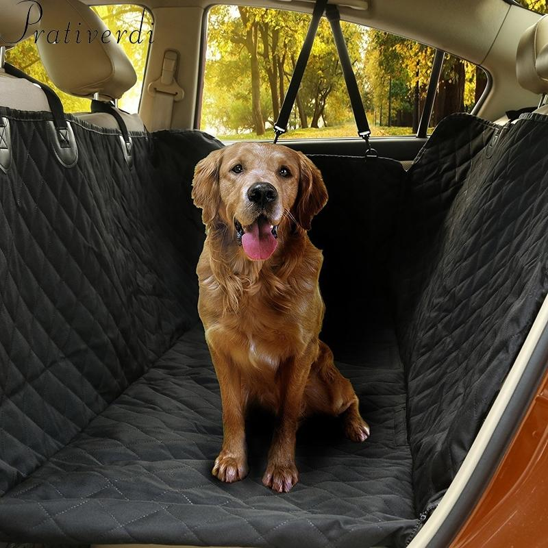 For Big Dogs Waterproof Back Bench Interior Travel Pet Accessories Dog Carriers Car Seat Covers Mat