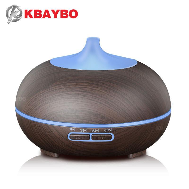 KBAYBO 300ml diffusore Aromaterapia Grana del legno olio essenziale diffusore umidificatore ad ultrasuoni 1012