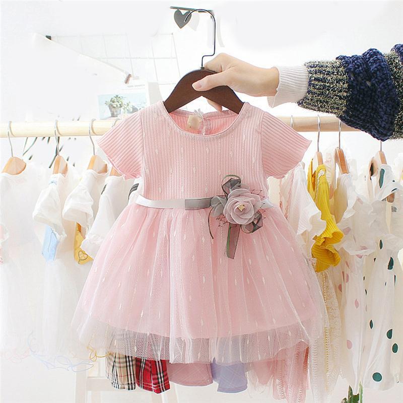 Baby Girls Vestido Verano Lindo Dibujos Animados Bebé Princesa Fiesta de Cumpleaños Vestidos de Malla Disfraz Para Niños Niños Infantil Ropa