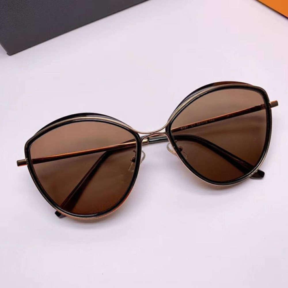 Тип простой черный нерегулярный универсальный натуральный кот Солнцезащитные очки Женский камень