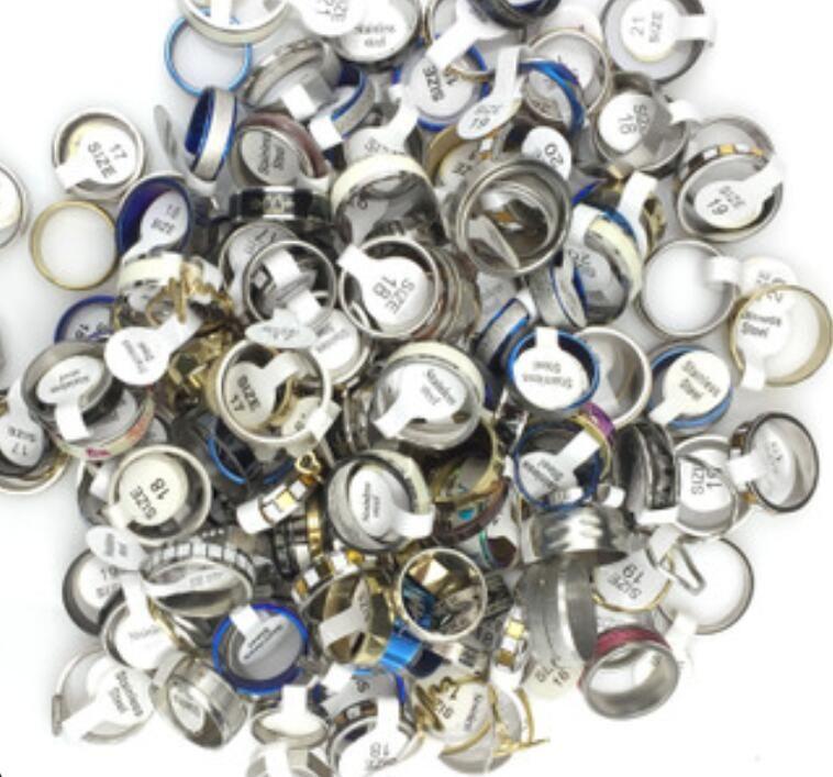 Joyería caliente y anillo de acero inoxidable para mujer Anillo de acero de titanio Joyas de acero joyas Hot Jewelry Hombre y anillo de acero inoxidable para mujer Titanio SRY