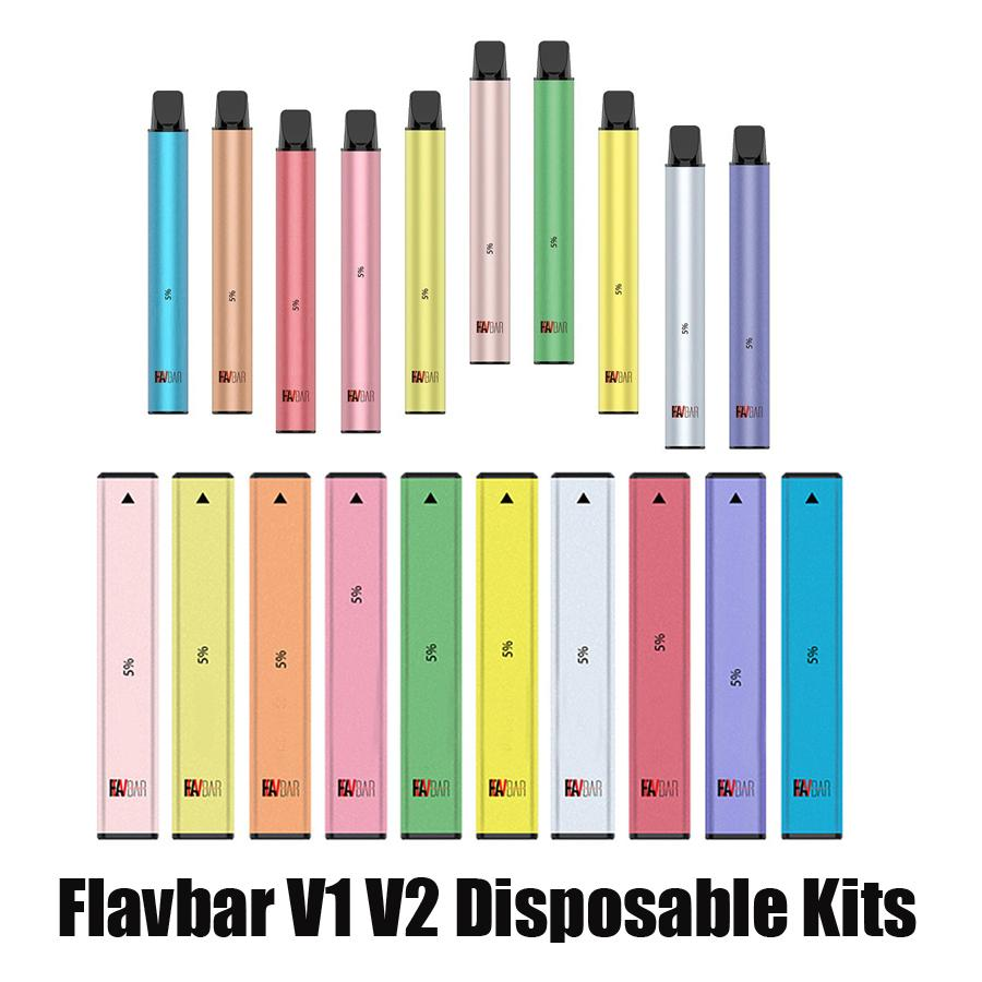 100% original Flavbar V1 V2 Dispositivo desechable Kit de dispositivo 1000 Puffs 650mAh 2.8ml PODS PERSULTED VAPE VACÍO BAR PEN PEN PLUS PLUS XXL AUTÉNTICA