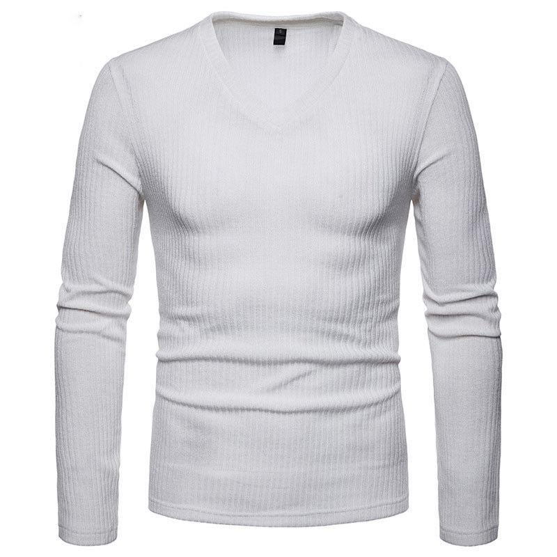 2018 neue stil heiße mode männer feste langarm sprecher lässig strickwaren pullover slim fit pullover