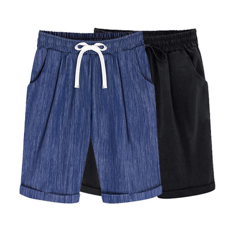 Ozhouzhan 2020 neue Art-Elastizität Plus-sized aus reiner Baumwolle Shorts lässige BF-Art-Fat Mm Lässige Shorts