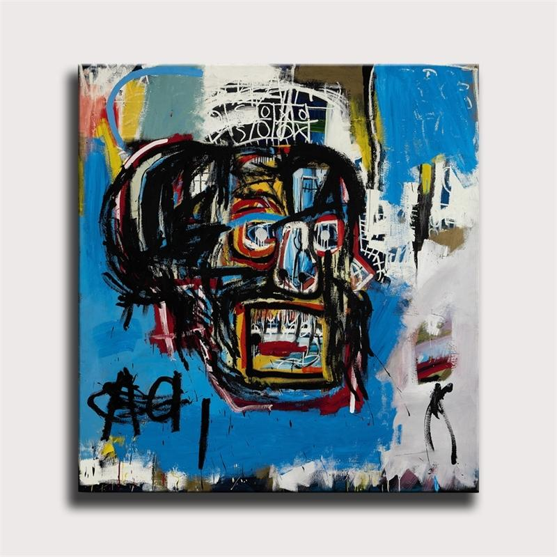 Jean Michel Untitled graffiti 1 Panel Abstract Wall Art Oil Painting Poster Canvas Painting Print for Living Room Home Decor #94 Y200103