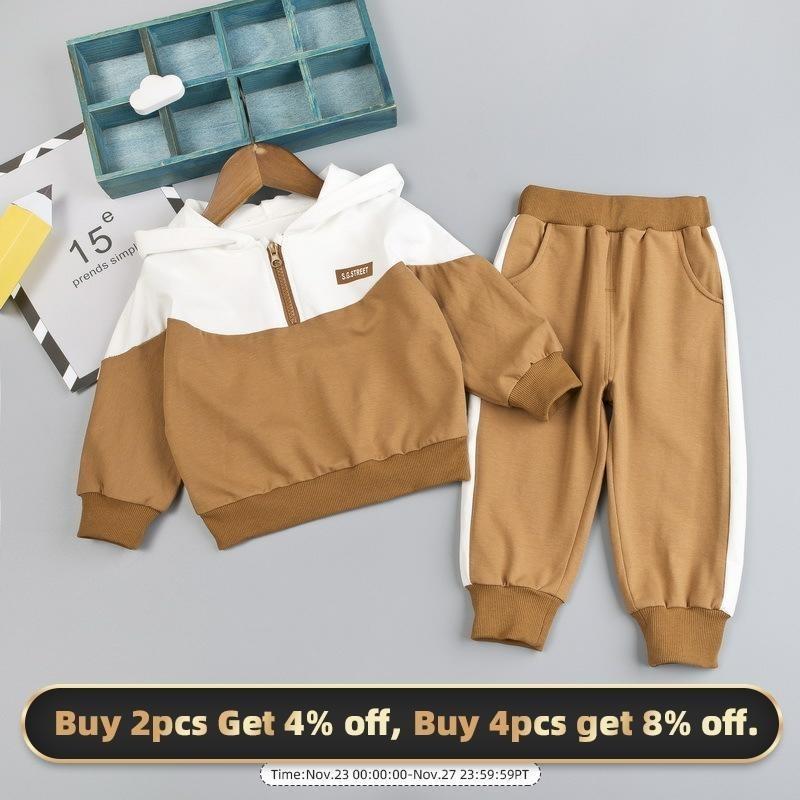 Bear Leader Infant Ropa Otoño Invierno Ropa para Baby Boys Ropa Set Sudadera Pantalones con capucha 2pcs Outfit Disfraz de niños para Baby Sitk 201126