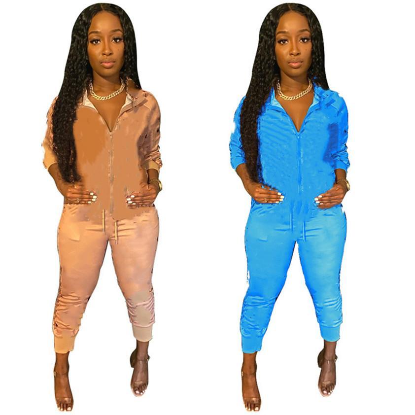 Primavera Designer Designer Donne Joggers Due PC Set Set Sweatsuit Yoga Tracksuit Lettera Abiti a maniche lunghe Sportswear Vendita calda Vendita calda Loungewear 4094