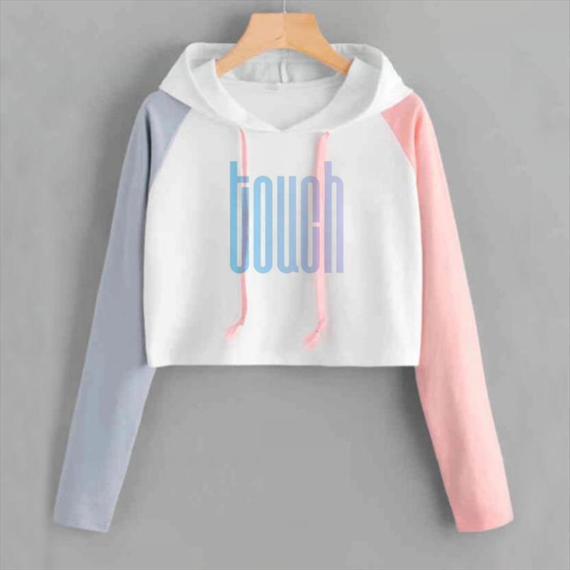 Kpop NCT 127 NCT127 U Album Crop Hoodie K POP beiläufige Baumwolle Pullover Kleidung Pullover Printed Langarm geerntete Sweatshirts
