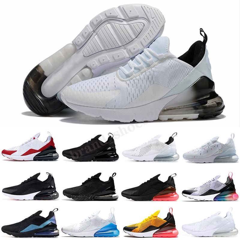 270 Hombre para mujer Zapatos Triple Negro Blanco Foto Bule Barely Rose Rosa Red Hombres Mujeres Deportes Deportes Deportes Entrenadores Tamaño 36-45