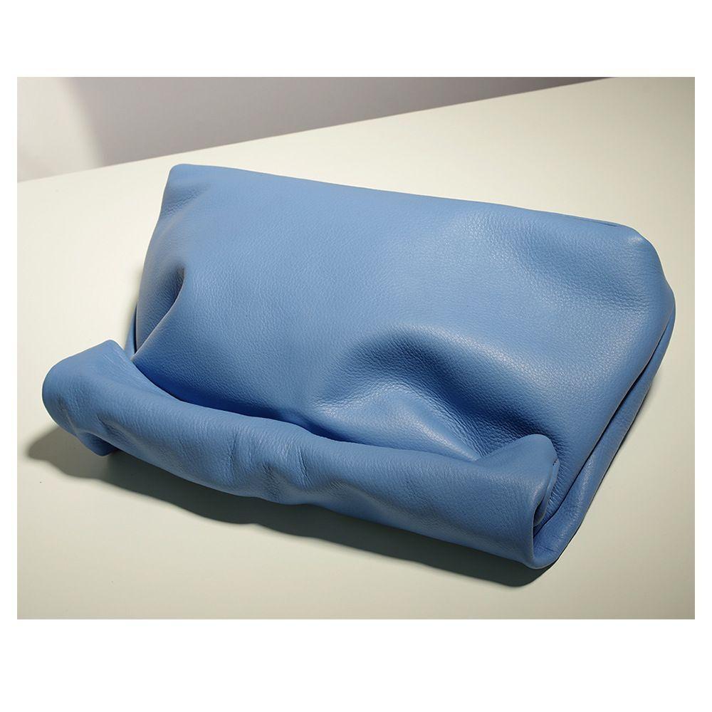 HBP конфеты цвет кожа маленькая группа кошелек личности ленивый повседневная клавик рука сумка верхний слой коровьей обед сумка женская мягкая сумка синий