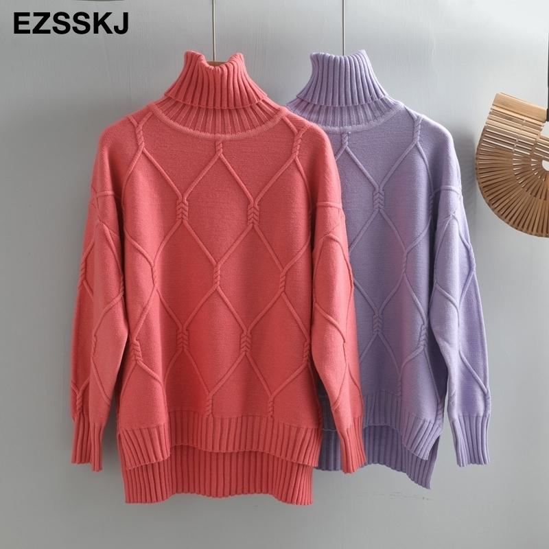 autumn winter oversize turtlenect thick wool cashmere sweater pullovers women long sleeve female casual big sweater jumper 201023