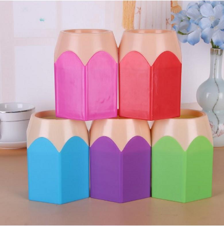 Mignon Pop Pop Creative Porte-stylo Vase Couleur Couleur Boîte Maquillage Posteterie Papeterie Set Ensemble de concepteur de conception