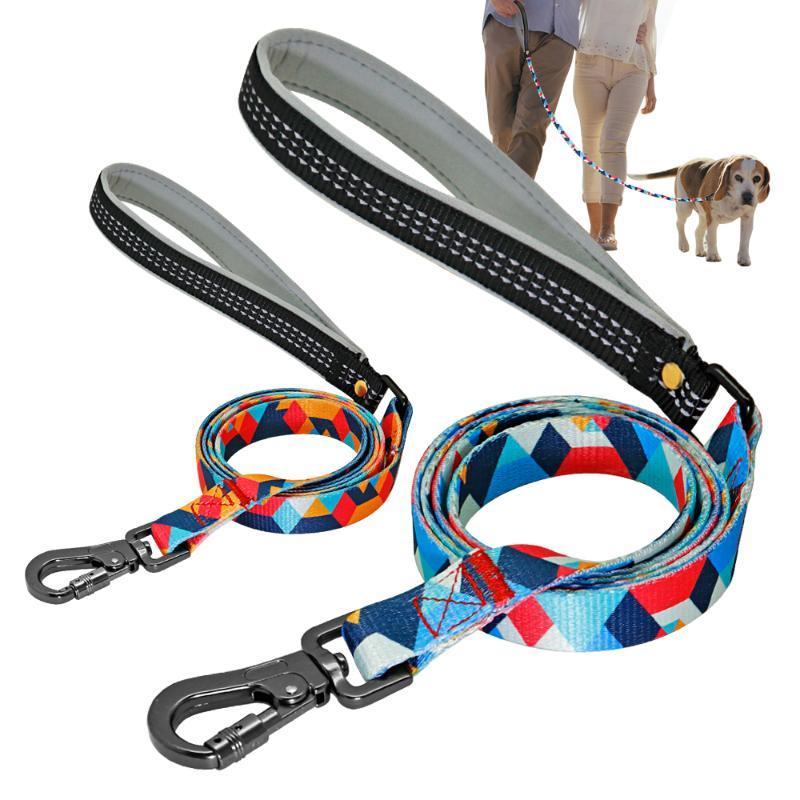 Weiche Durable Hundeleine 1,4M Haustier-Leine Walking Training Führleine Nylon Katzen Hunde Leinen-Gurt für Small Medium Large Dog