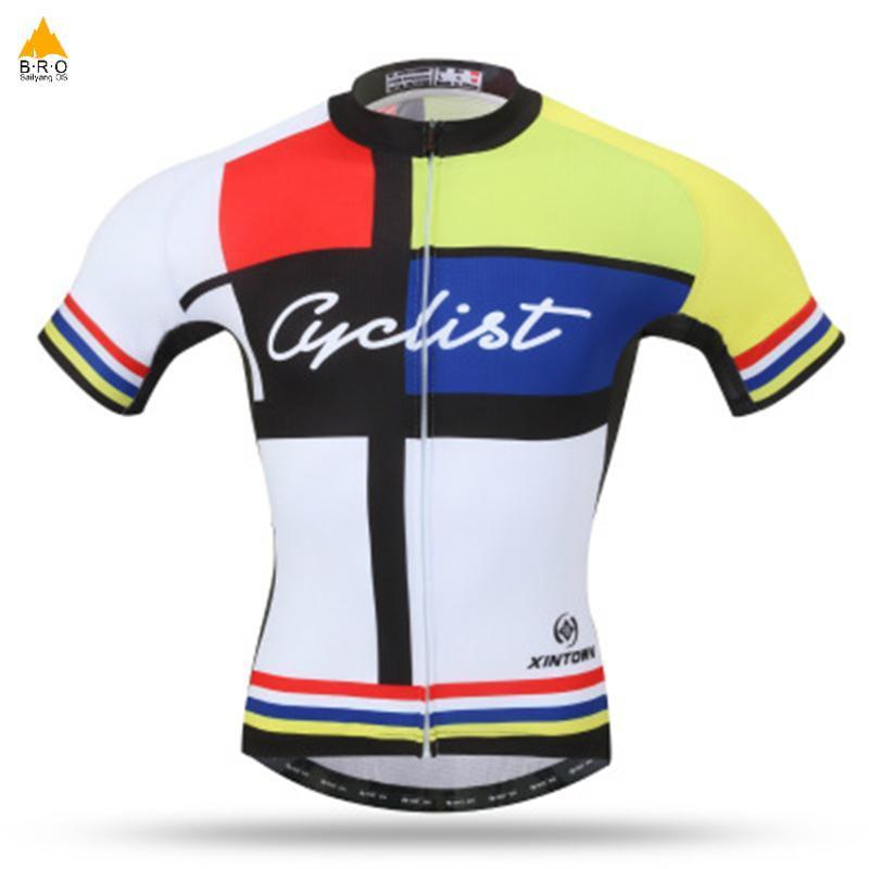 Bici Jersey transpirable ropa de la bicicleta MTB camisas Mallot ciclo Jersey Vetement Femme Bike Shirts Hombres Deportes 2 colores