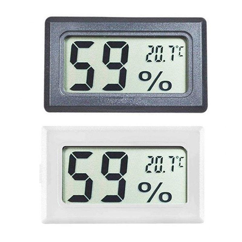 FY-11 Mini Dijital LCD Çevre Termometre Higrometre Siyah Beyaz Nem Sıcaklık Ölçer In Odası Buzdolabı Icebox DBC BH4157