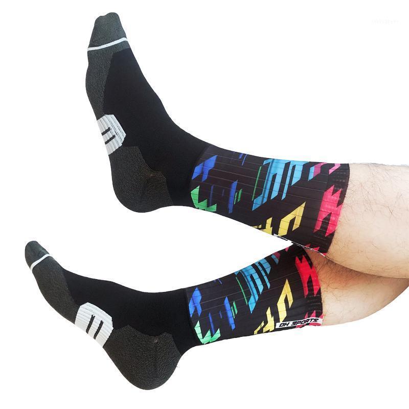2020 Nuevo elegante Silicona Sin deslizamiento Ciclismo Calcetines Profesionales Hombres Mujeres Bicicleta Bicicleta Senderismo Camping Anti Slip Sport Socks1