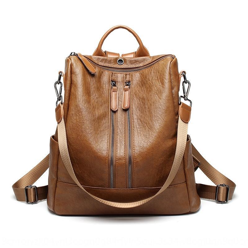 Été nouvelle maman mode d'été vachette nouvelle épaule momie sac à dos Mode épaule peau de vache sac sac backpackbackpack QEvGo