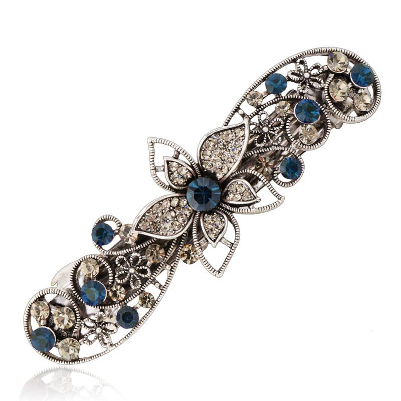 Elifashion Bowknot Butterfly Leaf Etc 6 Shape Hairpins Rhinestone Crystal Hair Clip Barrettes Vintage Hair Accessories for Women