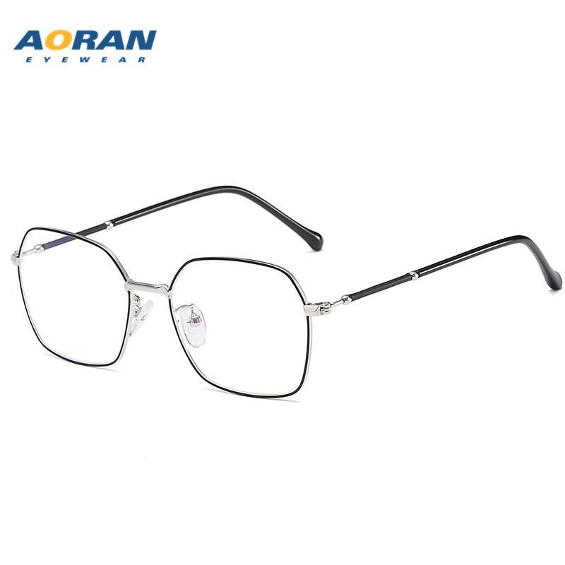 Fashion 2020 New Glasses Frame for Business Mens Retro Metal Square Glasses Frame Womens with Myopic Glasses Option Anti-Blue Ray Plain Glas