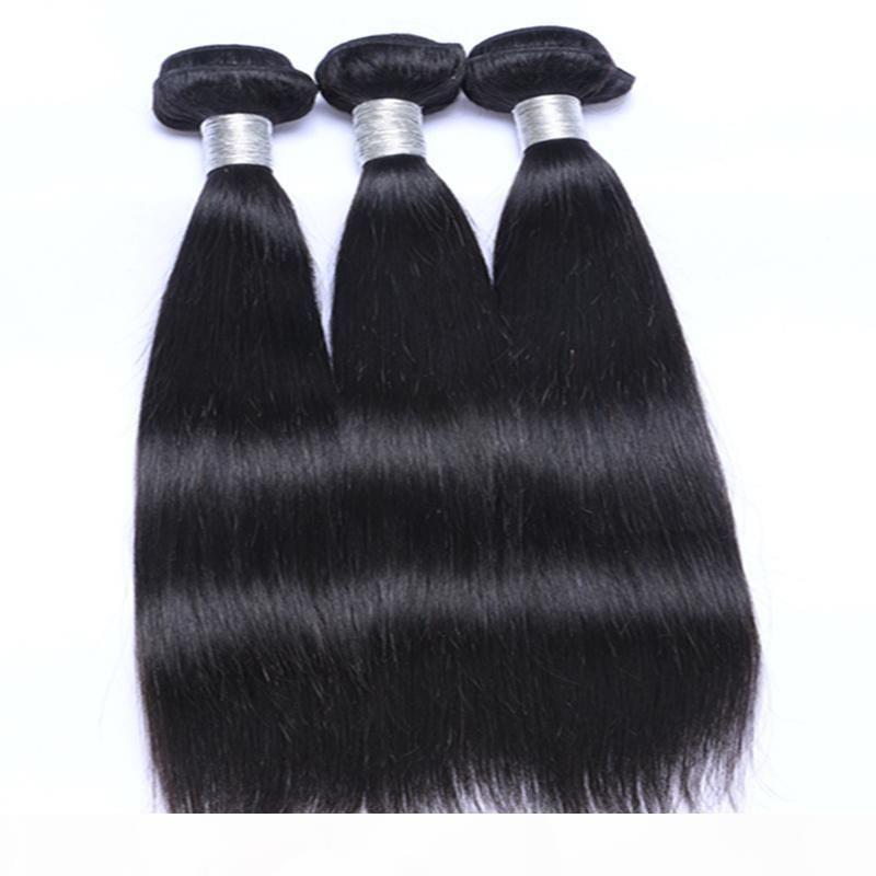 30 Inch Remy Human Hair Extensions Straight Hair Weaves Brazilian Malaysian Peruvian Indian Human Virgin Hair Bundles Can Be Dye Ombre