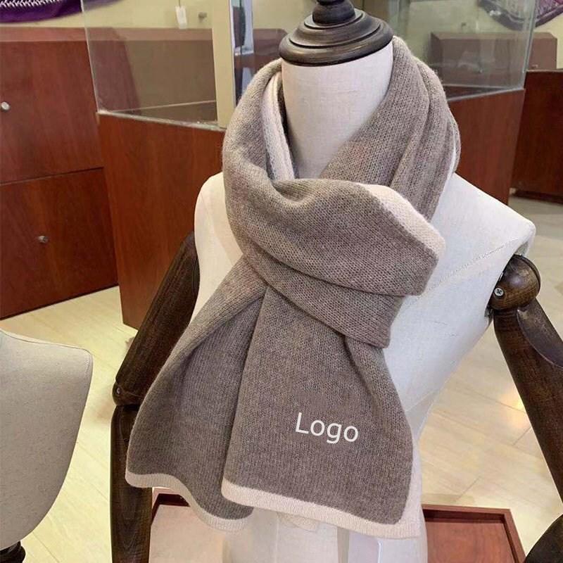 novo design de alta qualidade cor sólida estilo casual macio e confortável das mulheres inverno quente caxemira lenço de presente das mulheres lenço