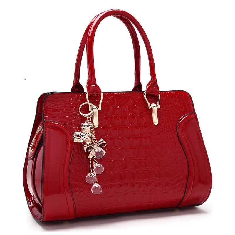New Fashion Wedding Messenger Bag Handbag 2020 Hombro Hombro Crocodile Novia SDMTD
