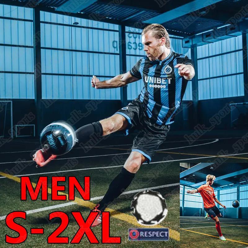 2020 2021 Brugge KV لكرة القدم الفانيلة Blauw-Zwart Club New Home Blue Black Krmencik N.Lang Vanaken Diatta Vormer Men Football Shirts Oechs