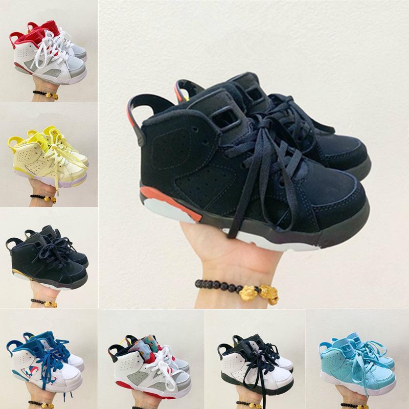 2021 Großhandel Kinder Jungen Mädchen Kinder Schuhe 6 Basketballschuhe Outdoor Sports Schuhe Gym Rot Chicago 6s Athletische Turnschuhe 22-35