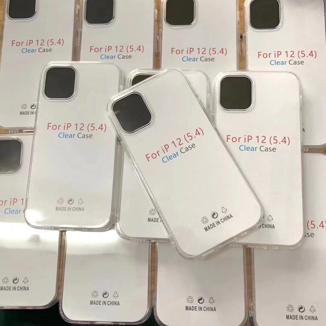 1.5MM 소프트 TPU 케이스 아이폰 (12) 미니 11 프로 XR XS MAX 8 7 6 갤럭시 S20 울트라 참고 20 초 10 플러스 S20 S10 클리어 크리스탈 피부 전화 커버