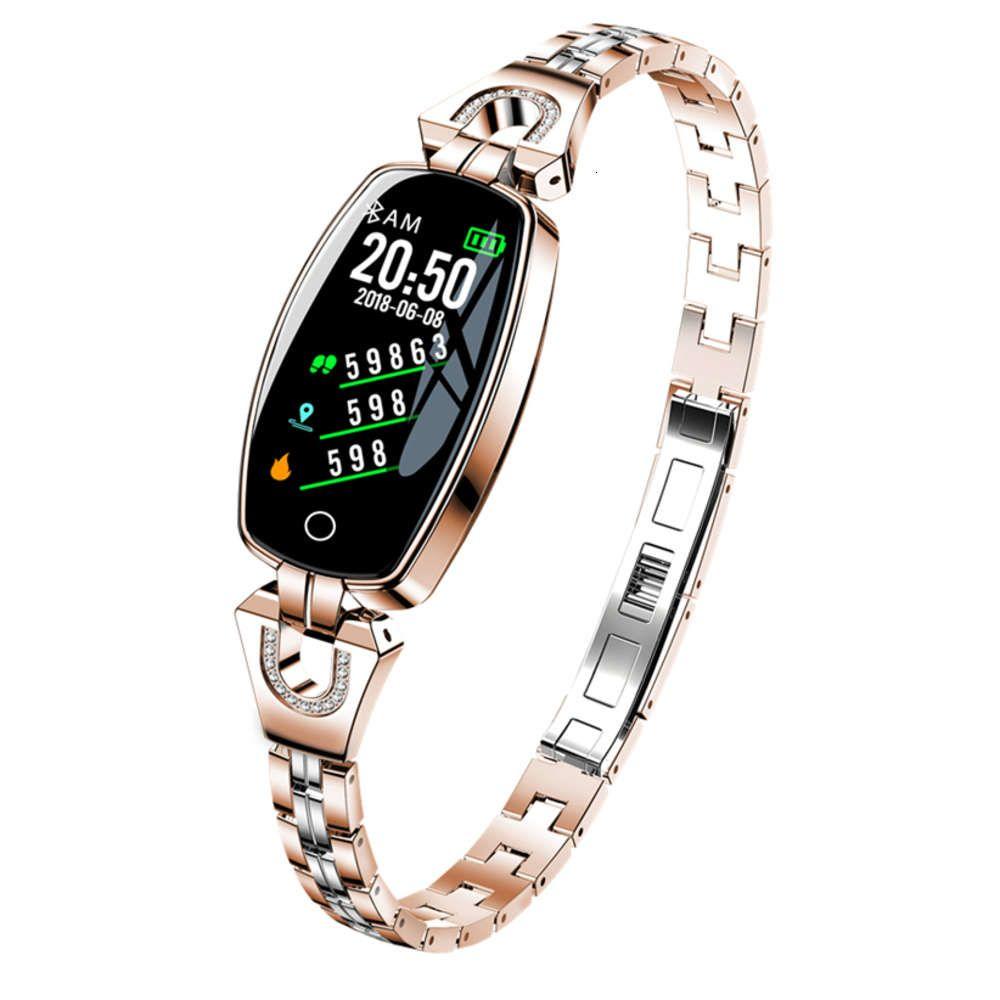 H8 IP67 женский интеллектуальный браслет, монитор, трекер, частота сердечных сокращений, призер крови, водонепроницаемый