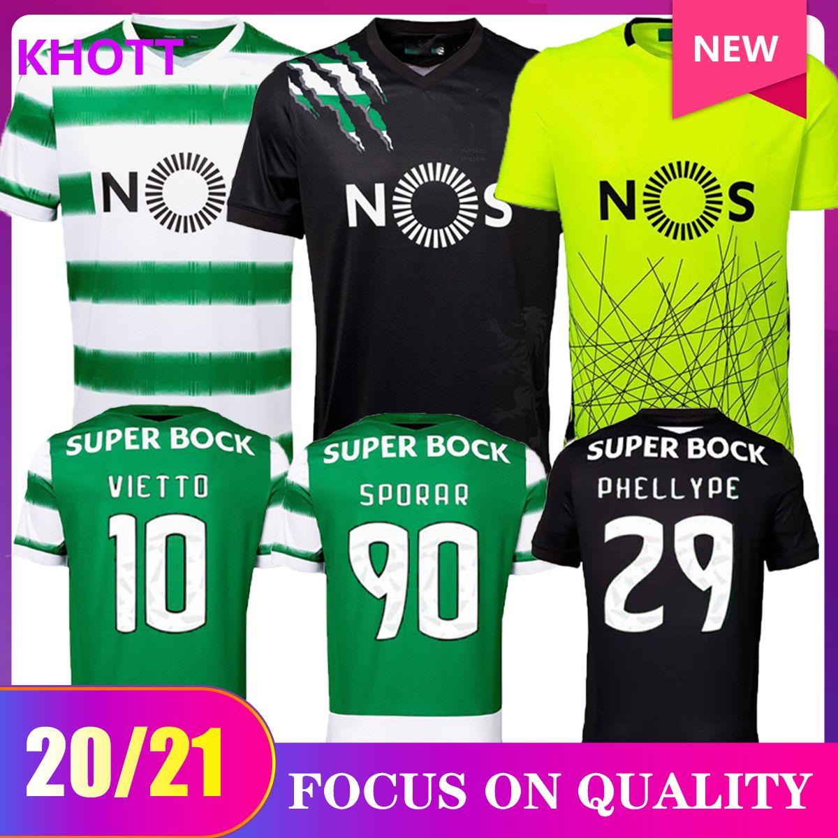 20 21 Sporting Clube de Sporting CP Lissabon Fußball Trikots Phellype 2020 2020 B.fernandes Soccer Jerseys Lisbona Dost Uomo Maglie da calcio