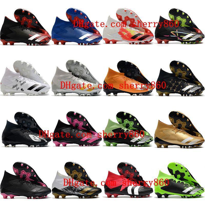 2021 Футбольные ботинки Качество Мужские Клеиты Хищник Мутатор 20,1 AG AG Открытый Футбол Ботинки Scalpe Calcio