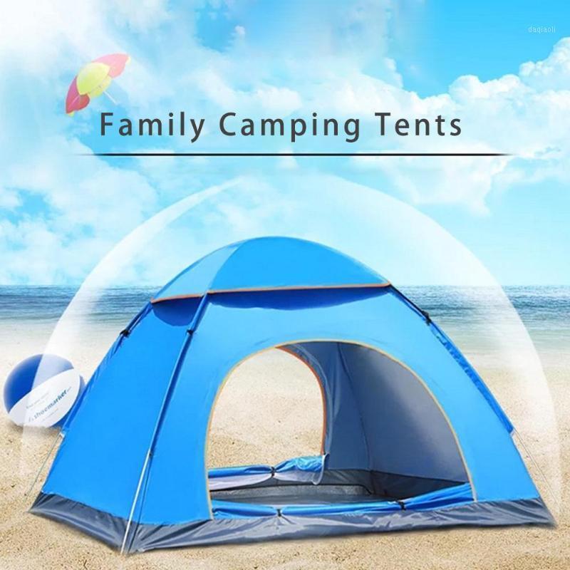 3/4 persona Tienda de campaña al aire libre impermeable Configuración rápida de velocidad automática Abrir Camping Tienda Portátil Playa Wild1