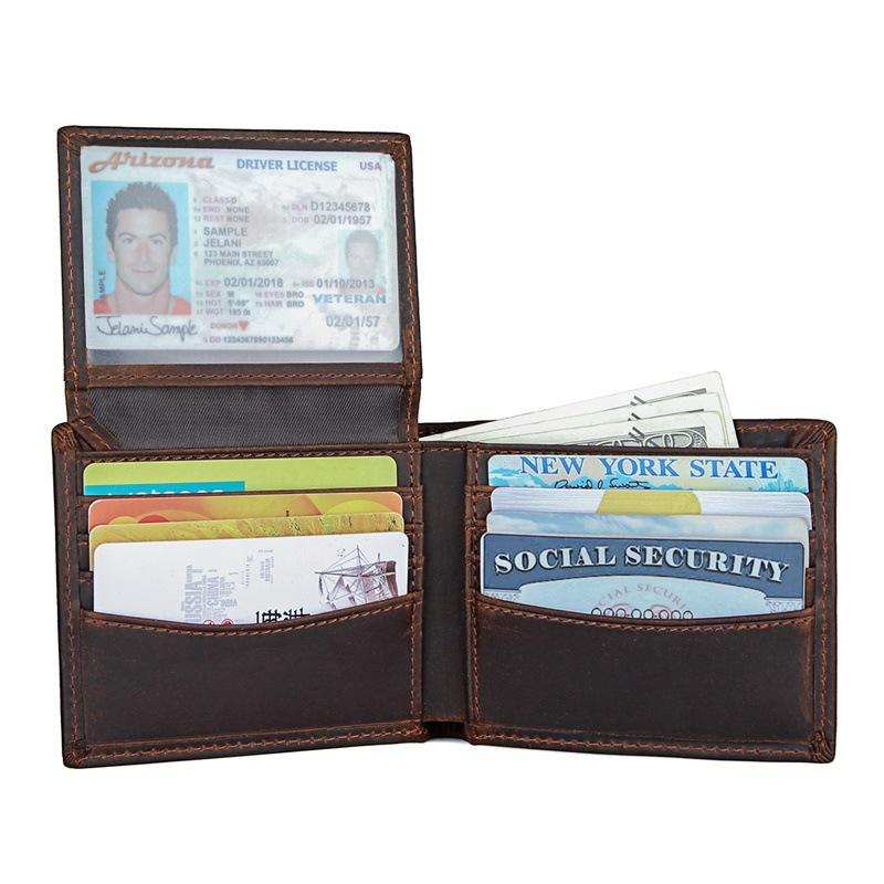 2020 Of New And Men Horse Male Genuine Wallets Money T8ek Wallet Leather Crazy Card Holder High-quality Purses Pocket Qvovl