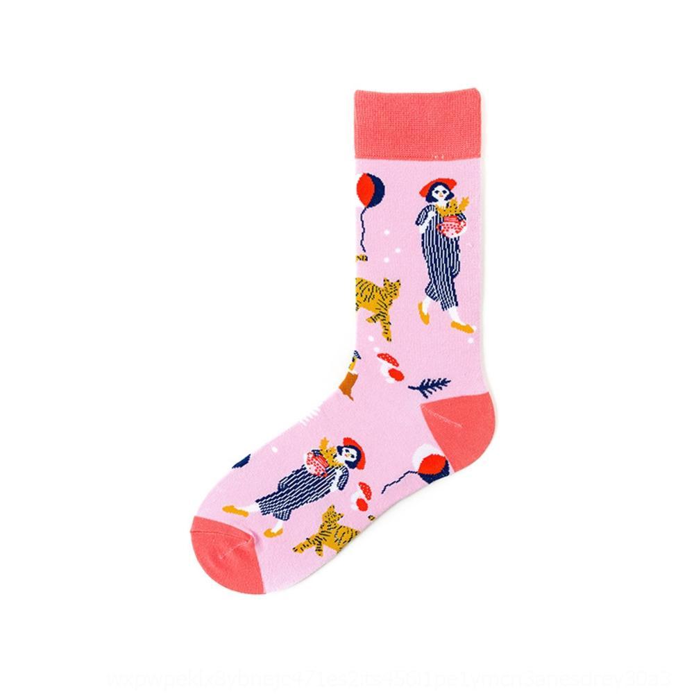 Tubo coppia amanti francesi carino medio indicativo paio di calze da uomo e da donna in cotone personalizzato calzini moda o5A3K