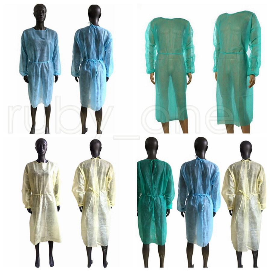 Non-woven Protective Clothing Disposable Isolation Gowns Clothing Suit Outdoor Protective Gowns Kitchen Anti Dust Aprons SHIP BY SEA RRA3797