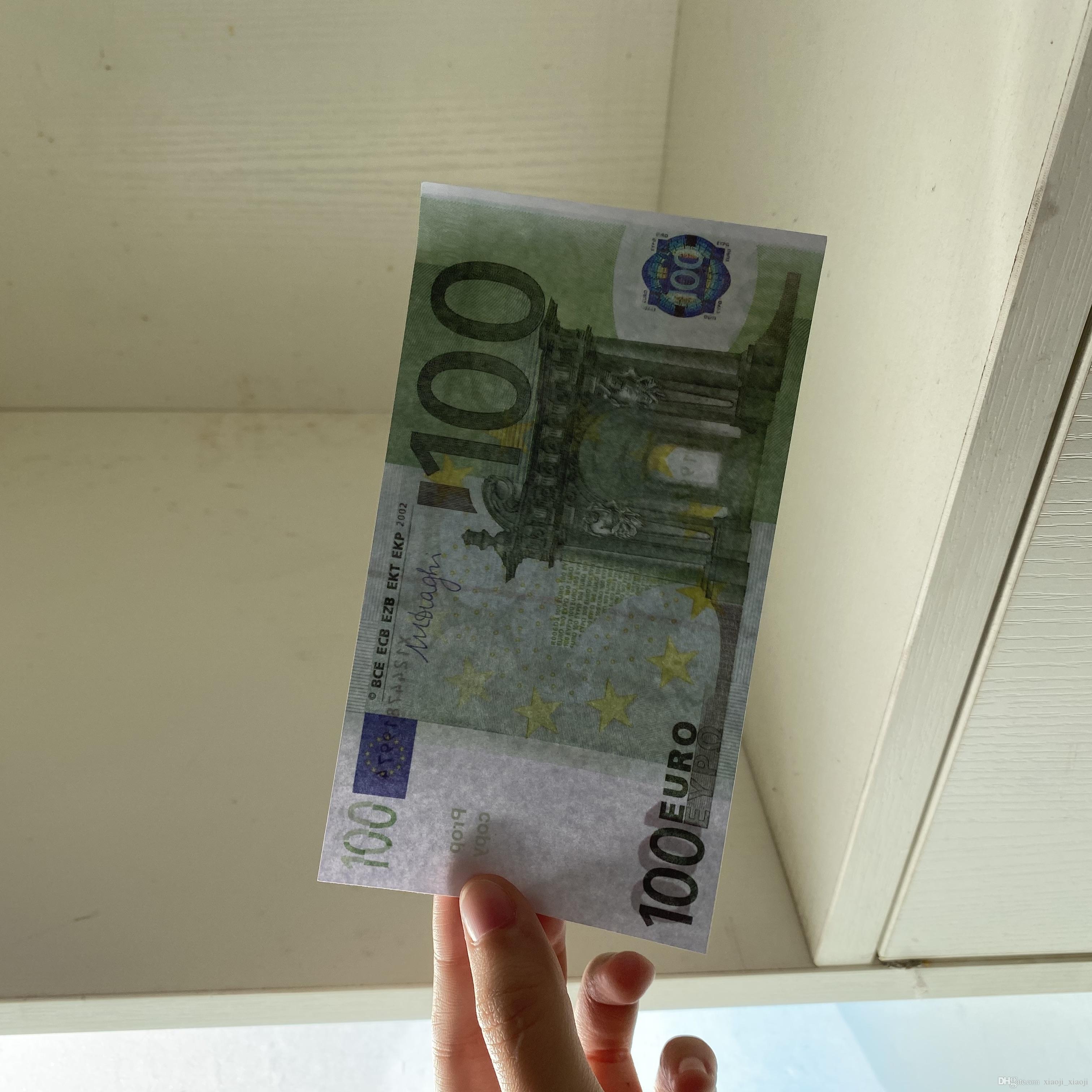 US 100 pz / pack Family Toy249 Prop Game La maggior parte dei soldi / Euro / Dollaro Banconota per bambini o copia carta realistica Mtfxi