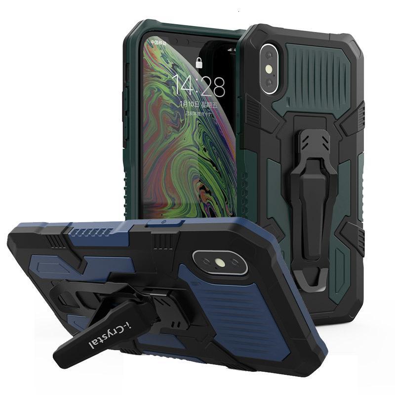 Telefon için Telefon SE 2020 11 Pro XS Max 7 8 Artı Ağır Darbeye Dayanıklı Zırh Kılıf Kemer Klipsi