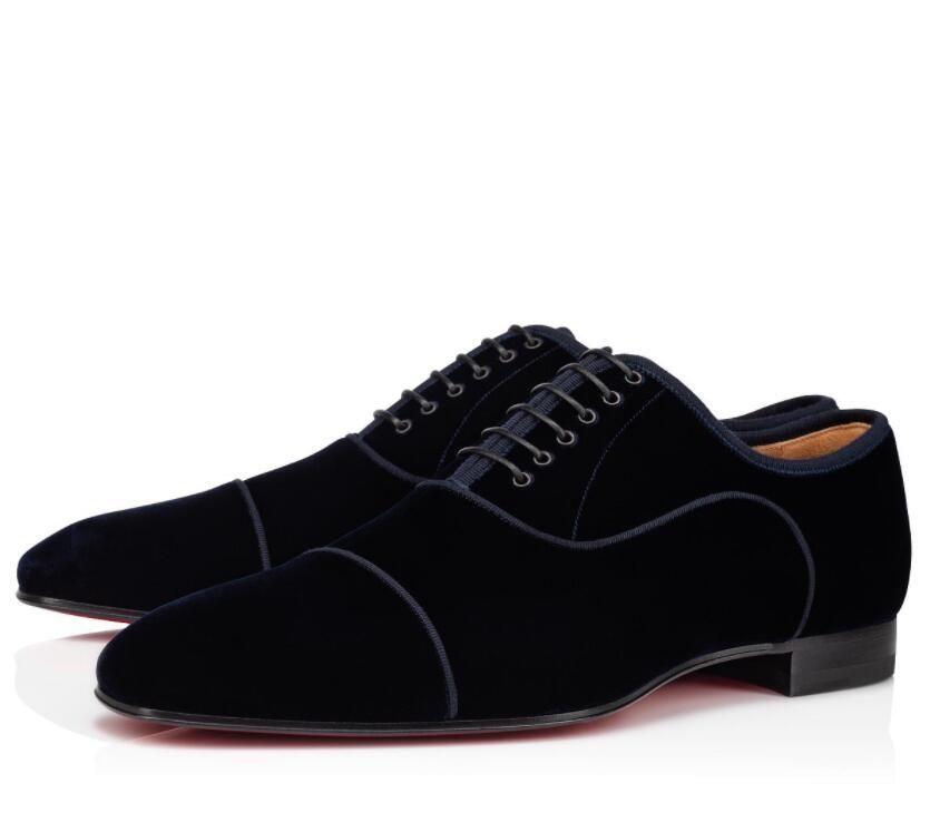 Beyefendi Greggo Orlato Sleek Lacivert Oxford Yürüyüş Kırmızı Alt Loafer Ayakkabı erkek Parti Gelinlik Erkekler Lüks Konfor Daireler EU35-47