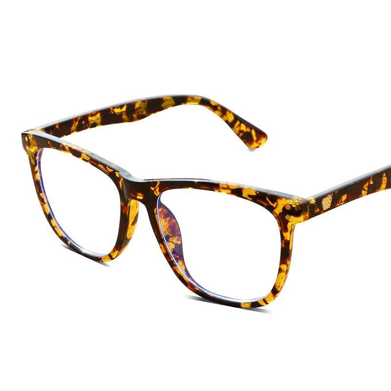 Quadratisch Blau lichtundurchlässige Sonnenbrillen Frauen Männer Transparent Brillen Gafas De Sol-Spiel-Computer Anti blaues Licht Glas