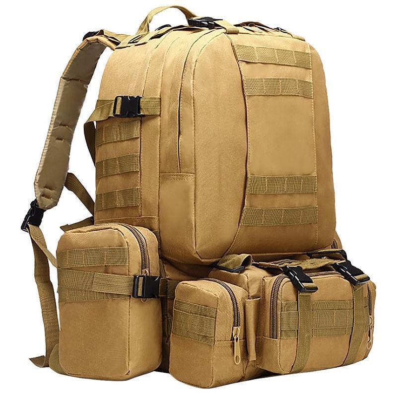 Mochila ao ar livre 50l, mochila masculina, 4 em saco de esporte de 1molle, caminhadas ao ar livre escalando mochila camping sacos