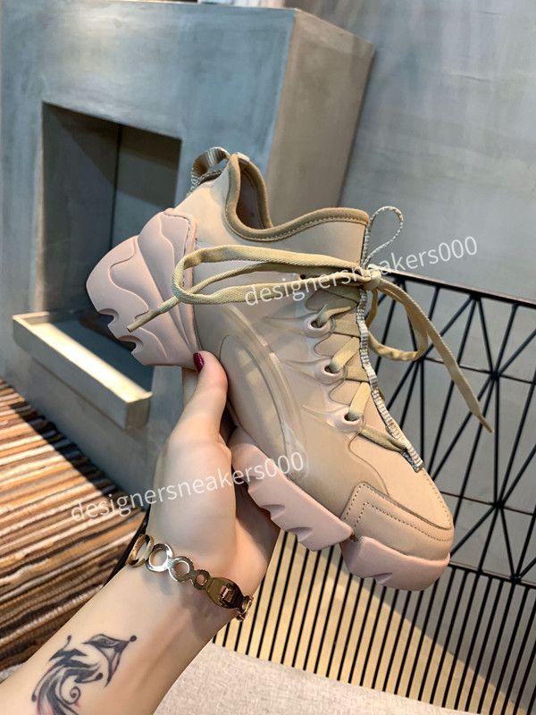Dior 2021New Bayan Paris Rahat Ayakkabı Eğitmenler Baba Ayakkabı Sneaker Siyah Boy Erkek Bayan Beyaz En İyi Kalite Koşucu Chaussures RX190407