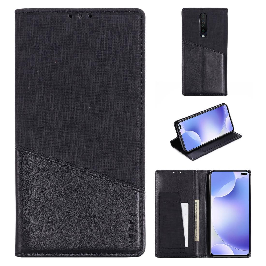 Para xiaomi redmi k30 muxma mx109 estojo de couro flip horizontal com carteira de slot de cartão de suporte