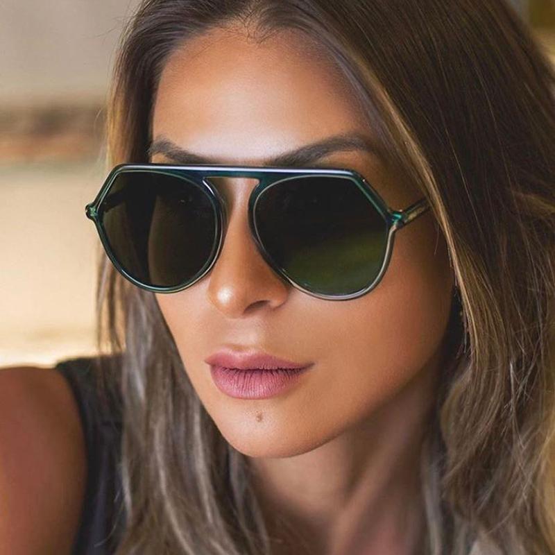 Quadro alto Vintage Tr90 para óculos de sol 2020 moda nova qualidade plana rodada sol mulheres feminina top óculos uv400 uurdj