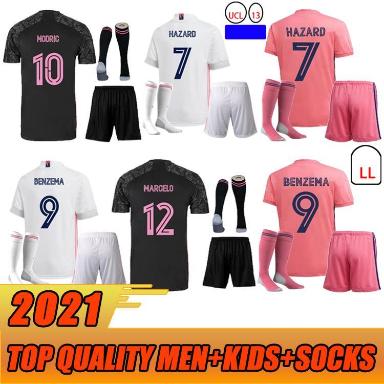 20 21 مراوح نسخة حقيقية سباق الجنس الحقيقي لكرة القدم الفانيلة فالفيردي rodrgo camiseta 2020 2021 vini كرة القدم قميص الرجال + أطفال مجموعات الجوارب
