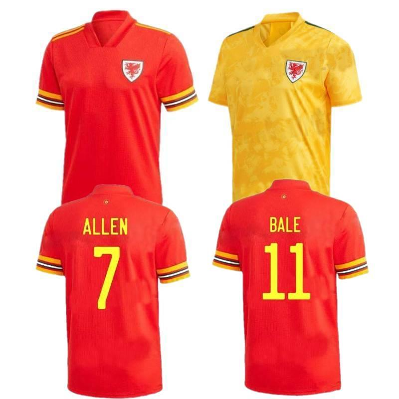 Acquista 2020 Galles Soccer Jersey Galles # 11 Bale Wales Camicia Da Calcio Mens # 7 Allen Casa Away Uniform Uniforme A 10,99 € Dal Sprotsmall | ...