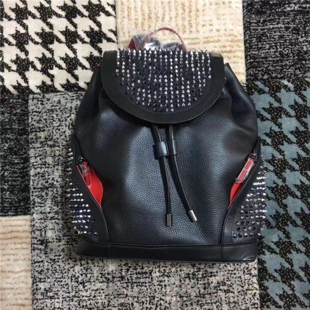 Borse in pelle reale uomini di alta qualità uomini donne zaino a zaino famoso rivetto famoso Rivetto Redbottom backpack designer signora borse boy ragazza back pack