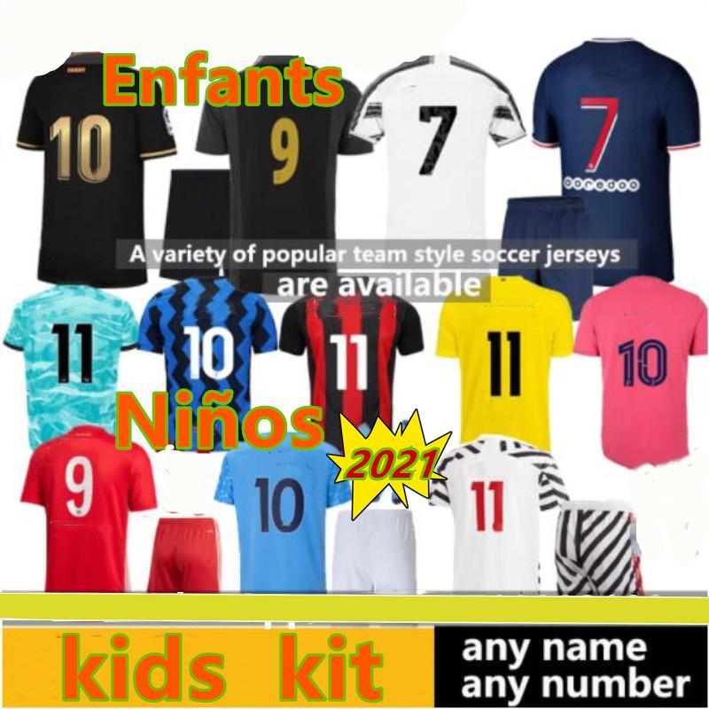 psg kids kit 2020 2021 men maillot de football psg enfants kits 2021 maillot psg enfant maillot de foot psg kids MBAPPE NEYMAR JR 19 20 psg kids soccer jersey